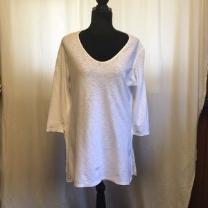 White Tunic with 3/4 sleeves
